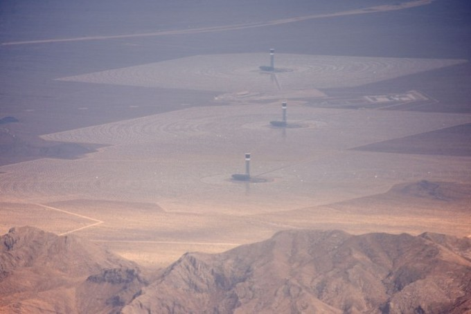 Ivanpah Solar Power Facility From The Air July 2014 640x427